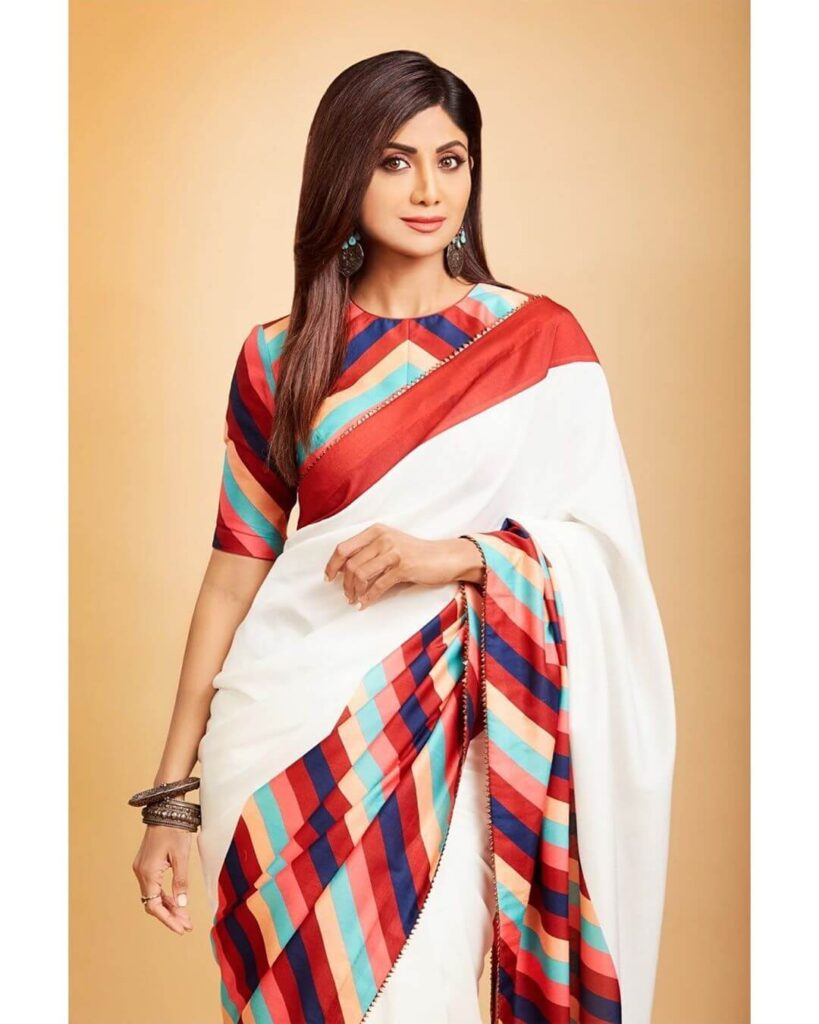 Shilpa Shetty in saree Net Worth Biography wiki age height husband